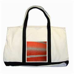 Orange Stripes Colorful Background Textile Cotton Cloth Pattern Stripes Colorful Orange Neo Two Tone Tote Bag