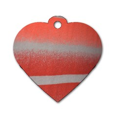 Orange Stripes Colorful Background Textile Cotton Cloth Pattern Stripes Colorful Orange Neo Dog Tag Heart (Two Sides)