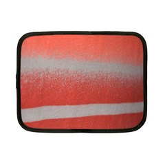 Orange Stripes Colorful Background Textile Cotton Cloth Pattern Stripes Colorful Orange Neo Netbook Case (small)