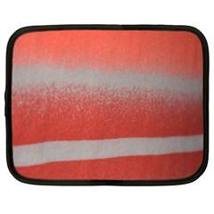 Orange Stripes Colorful Background Textile Cotton Cloth Pattern Stripes Colorful Orange Neo Netbook Case (xl)