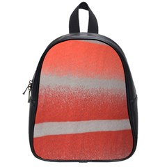 Orange Stripes Colorful Background Textile Cotton Cloth Pattern Stripes Colorful Orange Neo School Bags (Small)