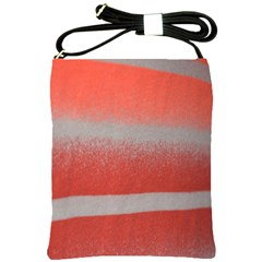 Orange Stripes Colorful Background Textile Cotton Cloth Pattern Stripes Colorful Orange Neo Shoulder Sling Bags