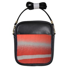 Orange Stripes Colorful Background Textile Cotton Cloth Pattern Stripes Colorful Orange Neo Girls Sling Bags