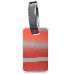Orange Stripes Colorful Background Textile Cotton Cloth Pattern Stripes Colorful Orange Neo Luggage Tags (one Side)