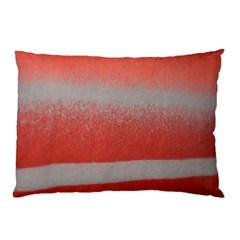 Orange Stripes Colorful Background Textile Cotton Cloth Pattern Stripes Colorful Orange Neo Pillow Case (Two Sides)