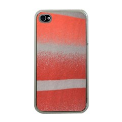 Orange Stripes Colorful Background Textile Cotton Cloth Pattern Stripes Colorful Orange Neo Apple iPhone 4 Case (Clear)