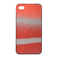 Orange Stripes Colorful Background Textile Cotton Cloth Pattern Stripes Colorful Orange Neo Apple iPhone 4/4s Seamless Case (Black)