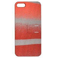 Orange Stripes Colorful Background Textile Cotton Cloth Pattern Stripes Colorful Orange Neo Apple Iphone 5 Hardshell Case With Stand