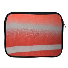 Orange Stripes Colorful Background Textile Cotton Cloth Pattern Stripes Colorful Orange Neo Apple Ipad 2/3/4 Zipper Cases