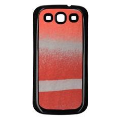Orange Stripes Colorful Background Textile Cotton Cloth Pattern Stripes Colorful Orange Neo Samsung Galaxy S3 Back Case (black)