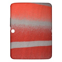 Orange Stripes Colorful Background Textile Cotton Cloth Pattern Stripes Colorful Orange Neo Samsung Galaxy Tab 3 (10.1 ) P5200 Hardshell Case