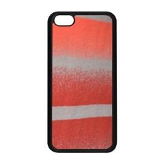 Orange Stripes Colorful Background Textile Cotton Cloth Pattern Stripes Colorful Orange Neo Apple Iphone 5c Seamless Case (black)
