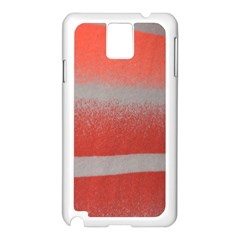 Orange Stripes Colorful Background Textile Cotton Cloth Pattern Stripes Colorful Orange Neo Samsung Galaxy Note 3 N9005 Case (White)