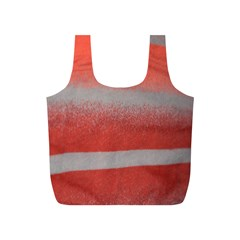 Orange Stripes Colorful Background Textile Cotton Cloth Pattern Stripes Colorful Orange Neo Full Print Recycle Bags (s)
