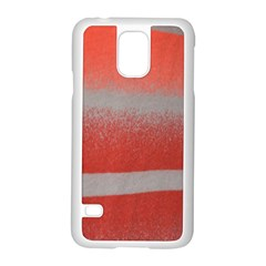 Orange Stripes Colorful Background Textile Cotton Cloth Pattern Stripes Colorful Orange Neo Samsung Galaxy S5 Case (White)