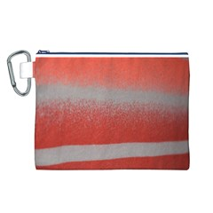 Orange Stripes Colorful Background Textile Cotton Cloth Pattern Stripes Colorful Orange Neo Canvas Cosmetic Bag (l)