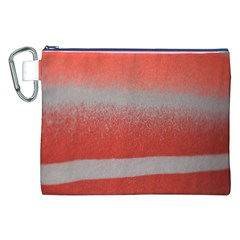 Orange Stripes Colorful Background Textile Cotton Cloth Pattern Stripes Colorful Orange Neo Canvas Cosmetic Bag (XXL)