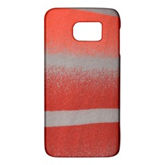 Orange Stripes Colorful Background Textile Cotton Cloth Pattern Stripes Colorful Orange Neo Galaxy S6