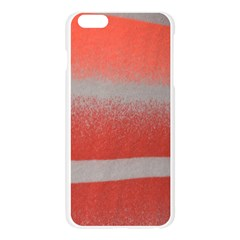 Orange Stripes Colorful Background Textile Cotton Cloth Pattern Stripes Colorful Orange Neo Apple Seamless iPhone 6 Plus/6S Plus Case (Transparent)