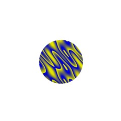 Blue Yellow Wave Abstract Background 1  Mini Buttons