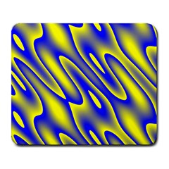 Blue Yellow Wave Abstract Background Large Mousepads