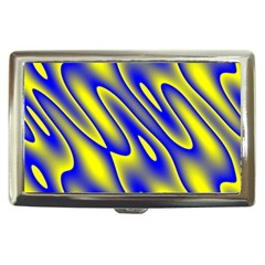 Blue Yellow Wave Abstract Background Cigarette Money Cases