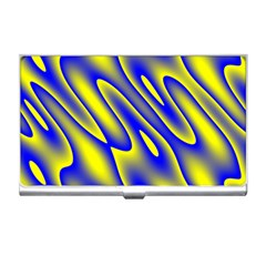 Blue Yellow Wave Abstract Background Business Card Holders