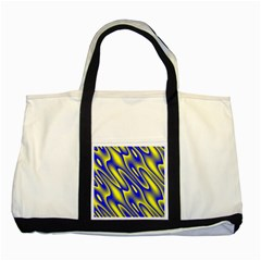 Blue Yellow Wave Abstract Background Two Tone Tote Bag