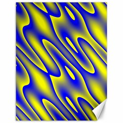 Blue Yellow Wave Abstract Background Canvas 12  X 16