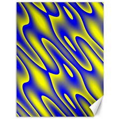 Blue Yellow Wave Abstract Background Canvas 36  x 48