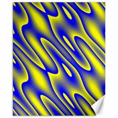 Blue Yellow Wave Abstract Background Canvas 11  x 14