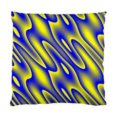 Blue Yellow Wave Abstract Background Standard Cushion Case (One Side)