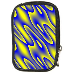 Blue Yellow Wave Abstract Background Compact Camera Cases