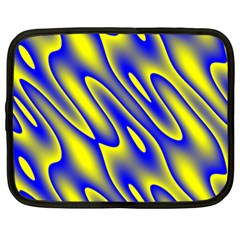 Blue Yellow Wave Abstract Background Netbook Case (XXL)
