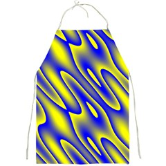 Blue Yellow Wave Abstract Background Full Print Aprons