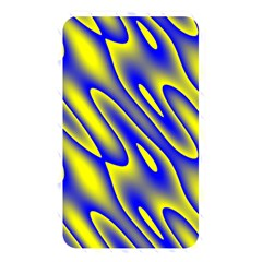 Blue Yellow Wave Abstract Background Memory Card Reader