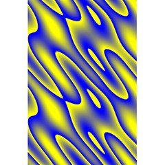 Blue Yellow Wave Abstract Background 5.5  x 8.5  Notebooks