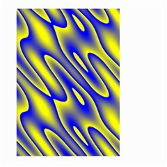 Blue Yellow Wave Abstract Background Large Garden Flag (Two Sides)