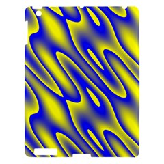 Blue Yellow Wave Abstract Background Apple Ipad 3/4 Hardshell Case