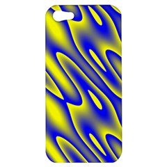 Blue Yellow Wave Abstract Background Apple iPhone 5 Hardshell Case