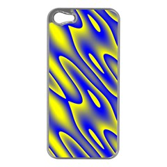 Blue Yellow Wave Abstract Background Apple Iphone 5 Case (silver)