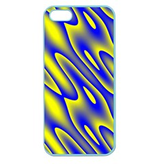 Blue Yellow Wave Abstract Background Apple Seamless iPhone 5 Case (Color)
