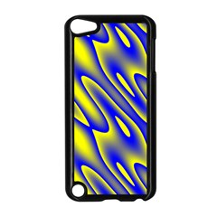 Blue Yellow Wave Abstract Background Apple Ipod Touch 5 Case (black)