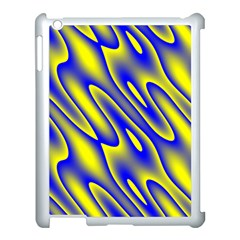 Blue Yellow Wave Abstract Background Apple Ipad 3/4 Case (white)