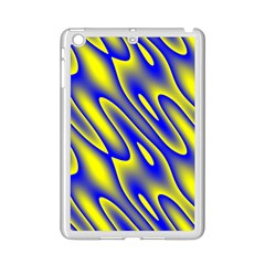 Blue Yellow Wave Abstract Background Ipad Mini 2 Enamel Coated Cases