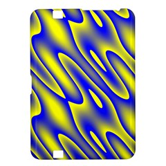 Blue Yellow Wave Abstract Background Kindle Fire Hd 8 9