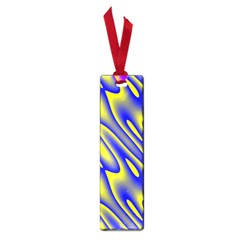 Blue Yellow Wave Abstract Background Small Book Marks
