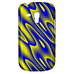 Blue Yellow Wave Abstract Background Galaxy S3 Mini