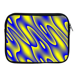 Blue Yellow Wave Abstract Background Apple iPad 2/3/4 Zipper Cases