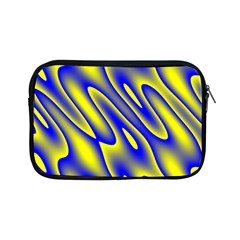 Blue Yellow Wave Abstract Background Apple Ipad Mini Zipper Cases